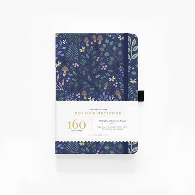 Archer and Olive A5 Into The Forest 160 Pages Dot Grid Notebook - Front Cover with Sleeve - Paper Dream