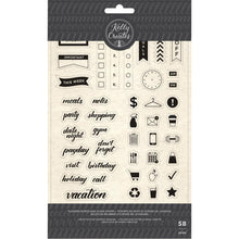 Charger l'image dans la galerie, Kelly Creates Planner Icon and word clear stamp set digital - Paper Dream