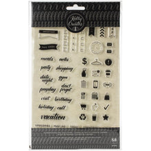 Charger l'image dans la galerie, Kelly Creates Planner Icon and word clear stamp set - Paper Dream