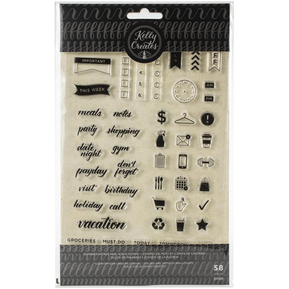 Kelly Creates Planner Icon and word clear stamp set - Paper Dream