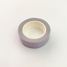 Load image into Gallery viewer, Light Purple solid colour washi tape roll