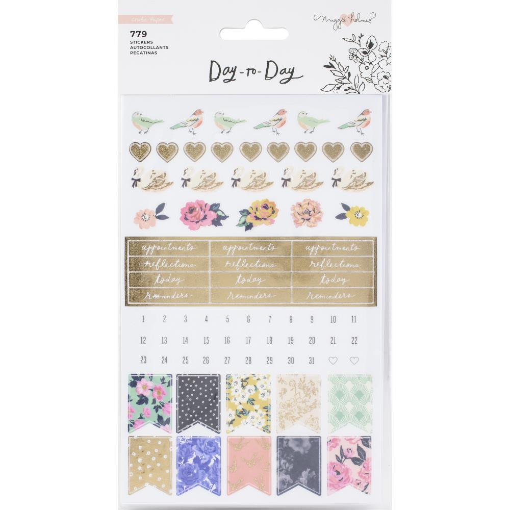 Maggie Holmes day to day phrase planner sticker book american crafts