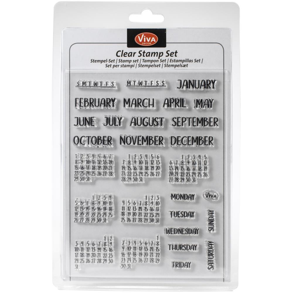 Month days calendar clear stamp set from viva decor - Paper Dream
