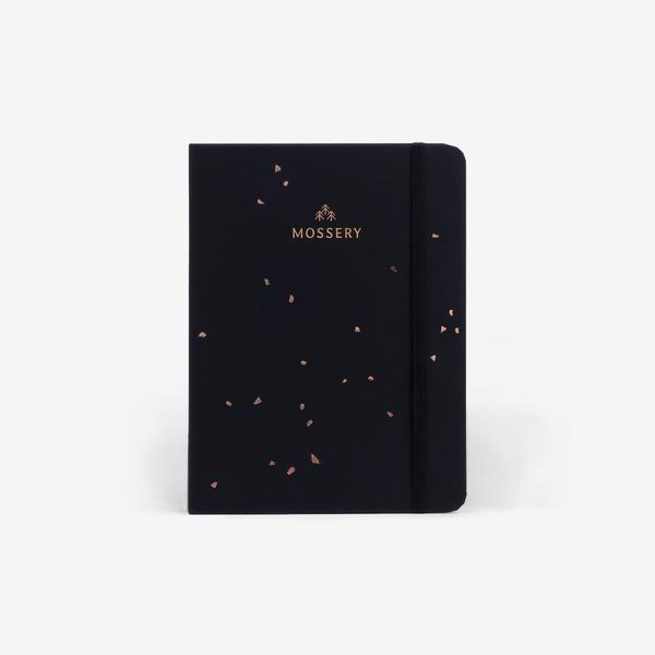 Mossery Black Speckle Notebook Cover