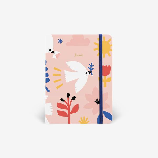 Mossery Delivery Doves thread bound notebook cover - Paper Dream