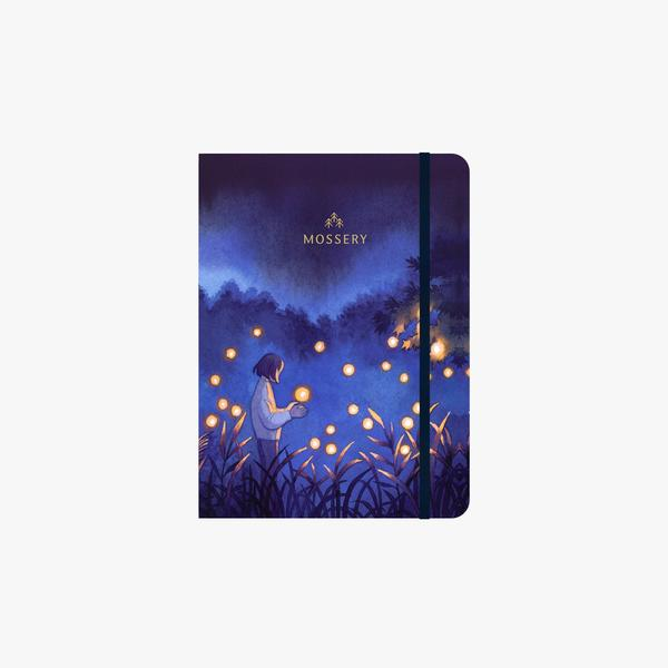 Mossery Fireflies thread bound notebook cover - Paper Dream