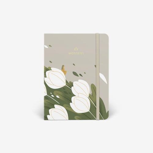 Mossery Tulips thread bound notebook cover - Paper Dream