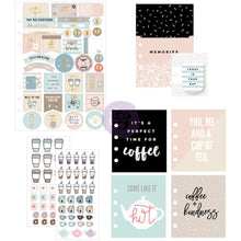 Load image into Gallery viewer, Coffee & Tea Lovers Planner Goodie Pack inside - Paper Dream