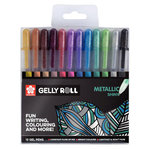 Sakura Gelly Roll Metallic Pens set of 12 - Paper Dream