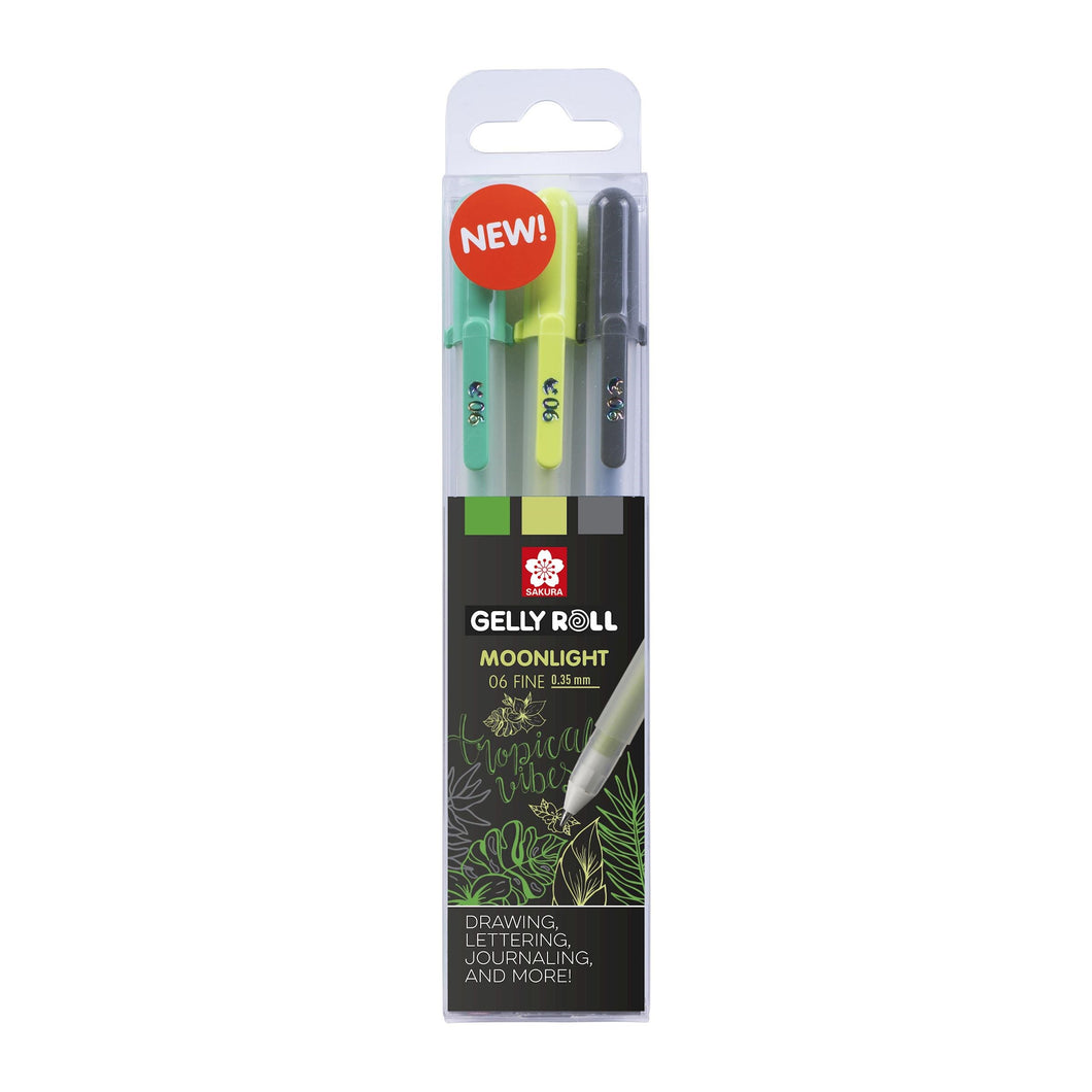 Sakura Gelly Roll Moonlight 06 Botanical Gel Pen Set - Paper Dream