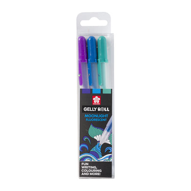 Sakura Gelly Roll Moonlight 10 Ocean Fluorescent Pen Set Packet - Paper Dream