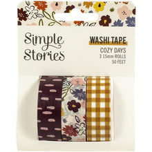 Load image into Gallery viewer, Simple Stories Cozy Days washi tape set of 3