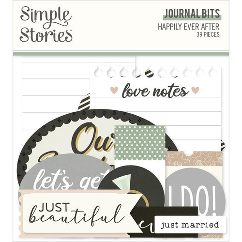 Simple Stories Happily Ever After Journal Die-Cut Bits & Pieces - Paper Dream