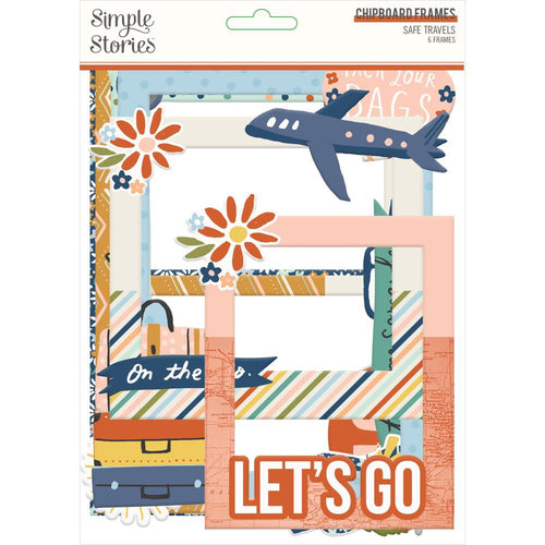 Simple Stories Safe Travels Chipboard Frames - Paper Dream