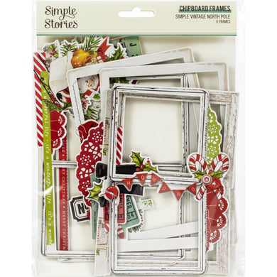 Simple Stories Simple Vintage North Pole Chipboard Frames - Paper Dream