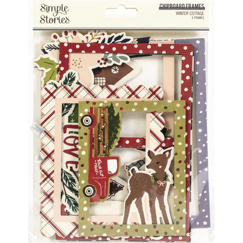 Simple Stories Winter Cottage Chipboard Frames - Paper Dream