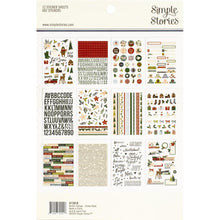 Load image into Gallery viewer, Simple Stories winter cottage sticker book back - Paper Dream