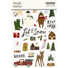 Load image into Gallery viewer, Simple Stories winter cottage sticker book - Paper Dream
