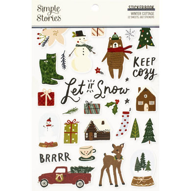 Simple Stories winter cottage sticker book - Paper Dream