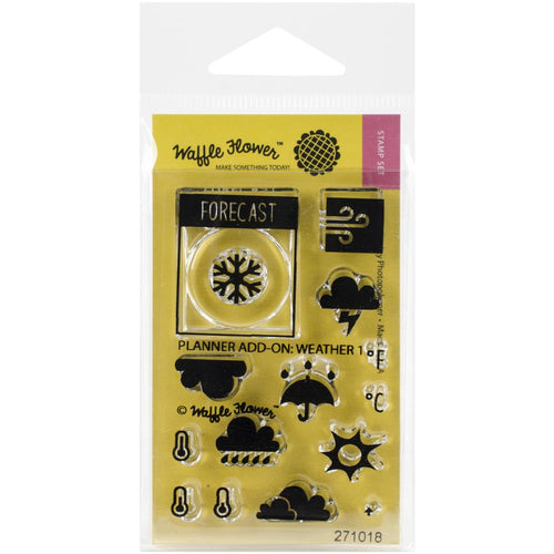 Waffle flower weather icon clear stamp set - Paper Dream