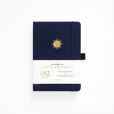 Archer and Olive A5 Autumnal Equinox 192 Pages Dot Grid Notebook - Front Cover with Sleeve - Paper Dream