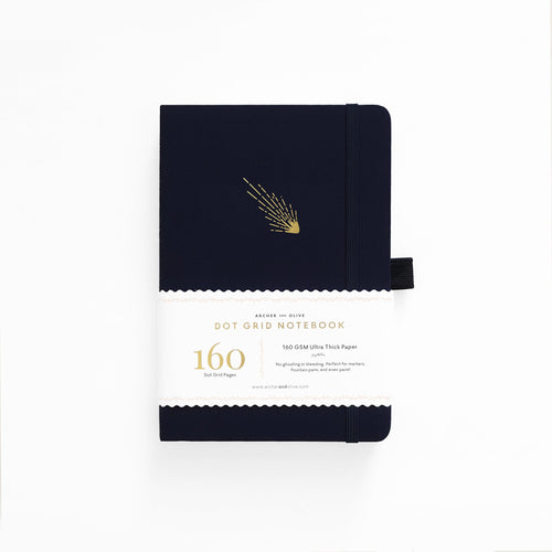 Archer and Olive A5 Falling Skies 160 Pages Dot Grid Notebook - Front Cover with Sleeve - Paper Dream