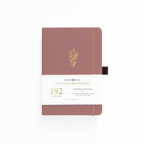 Archer and Olive A5 Floral Sunset 192 Pages Dot Grid Notebook - Front Cover with Sleeve - Paper Dream