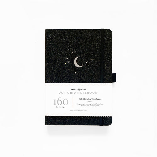 Archer and Olive Forest Night dot grid notebook bullet journal 160 pages a5 - Paper Dream