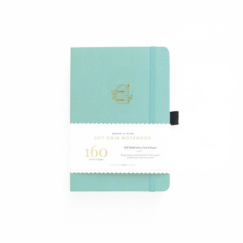 Archer and Olive A5 Garden Door 160 Pages Dot Grid Notebook - Front Cover with Sleeve - Paper Dream