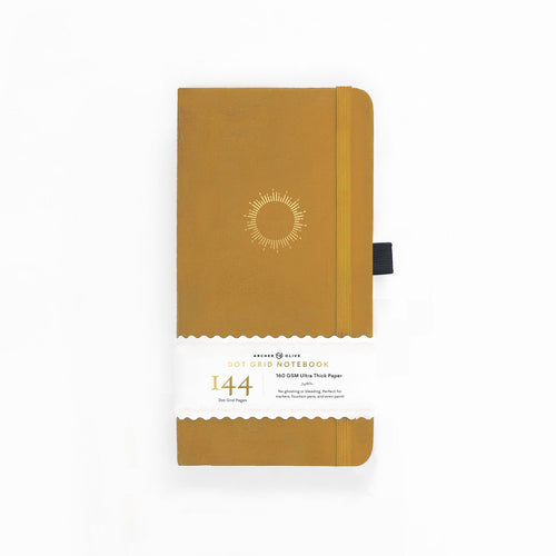 Archer and Olive Travelers Morning Sun 144 Pages Dot Grid Notebook - Front Cover with sleeve - Paper Dream