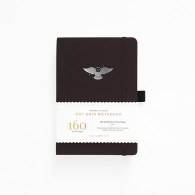 Archer and Olive Night Owl  dot grid notebook bullet journal 160 pages a5 - Paper Dream