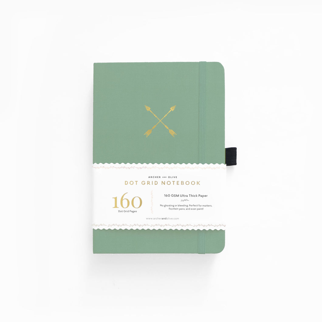 Archer and Olive Twin Arrows dot grid notebook bullet journal 160 pages a5 - Paper Dream