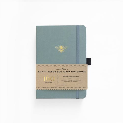 Archer and Olive Vintage Bee Kraft dot grid notebook bullet journal 160 pages a5 - Paper Dream