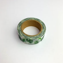 Charger l'image dans la galerie, Green leaves washi tape roll