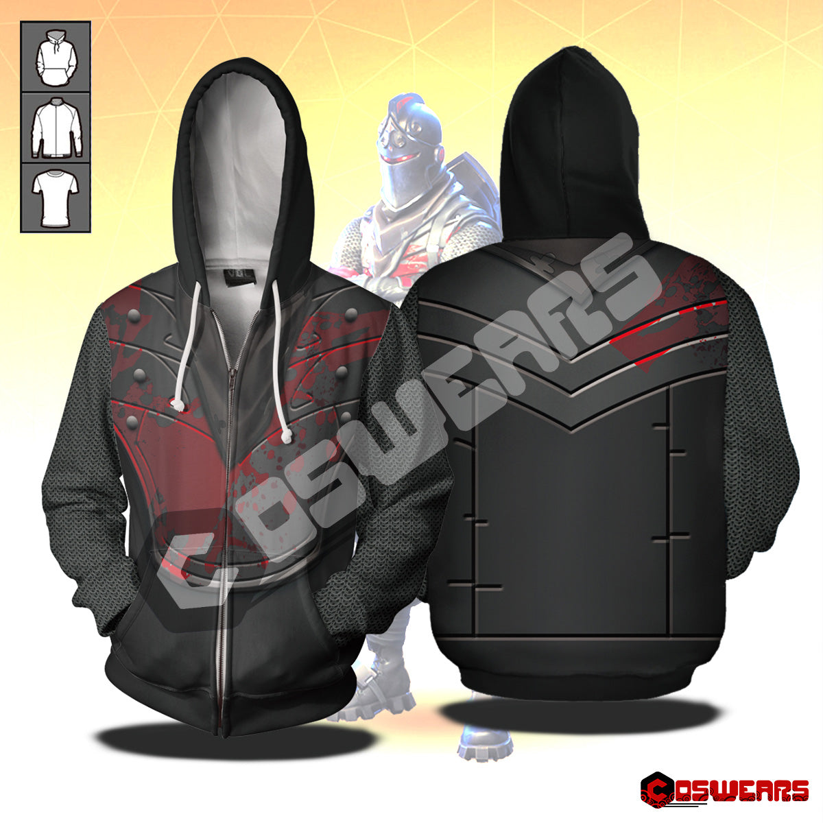 Fortnite - Black Knight Zipped Hoodie