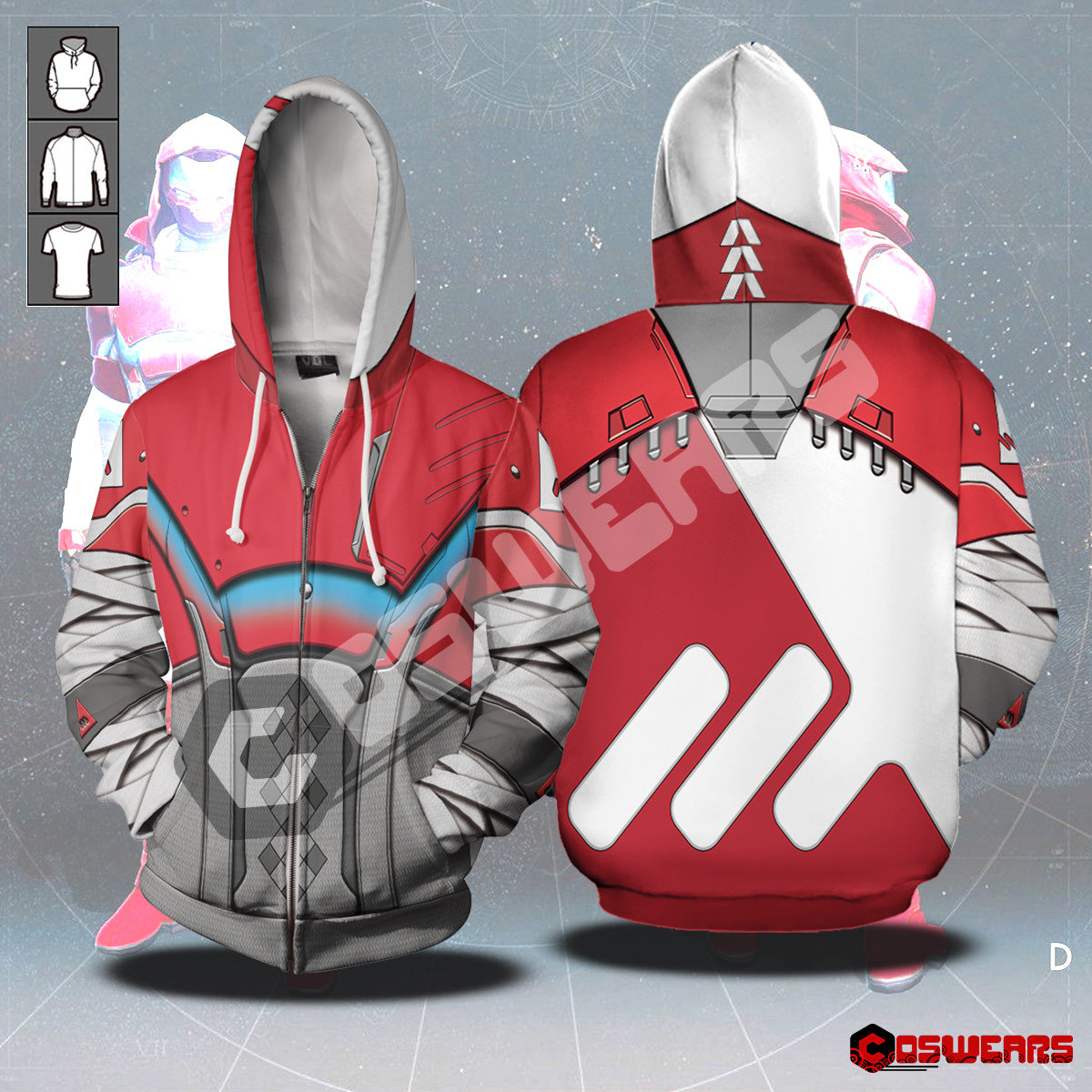 Destiny Hunter - NM Chroma Zipped Hoodie