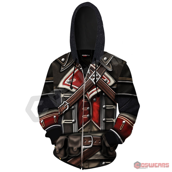 Assassin's Creed Cormac Inspired Zipped Hoodie
