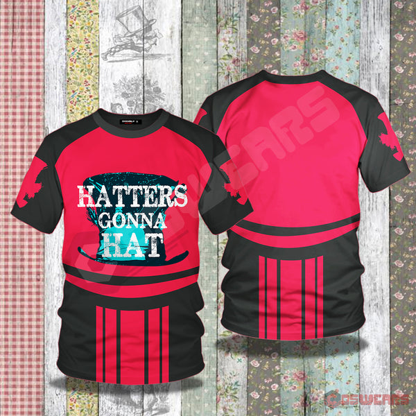 Alice in Wonderland : Hatters Gonna Hat T-Shirt
