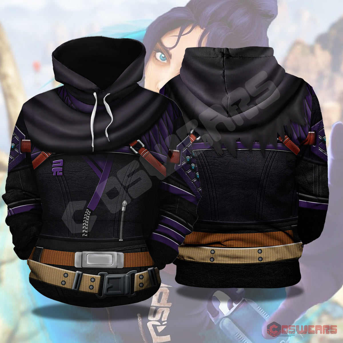 Apex Legends : Wraith Inspired Pullover Hoodie
