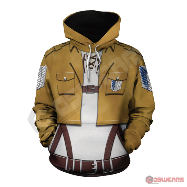 Attack on Titan - Eren Yeagar Inspired Pullover Hoodie