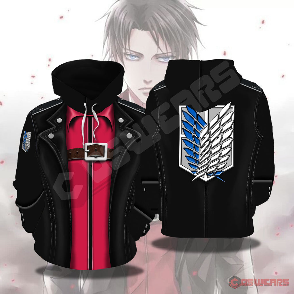 Attack On Titan Levi Ackerman Inspired Pullover Hoodie