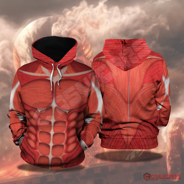 Attack on Titan - Colossal Titan Inspired Pullover Hoodie