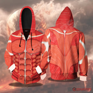 Attack on Titan - Colossal Titan Inspired Zipped Hoodie