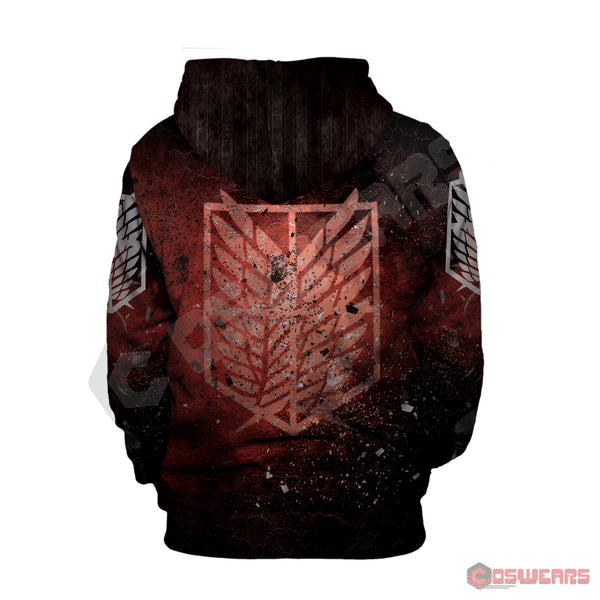 Attack on Titan- Mikasa Inspired Pullover Hoodie