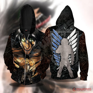 Attack on Titan - Eren's Abyss Inspired Zipped Hoodie