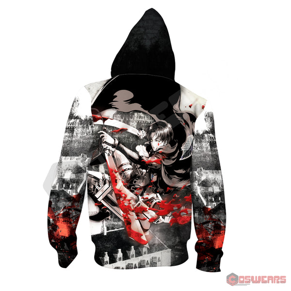 Attack on Titan - Captain Levi Inspired Zipped Hoodie