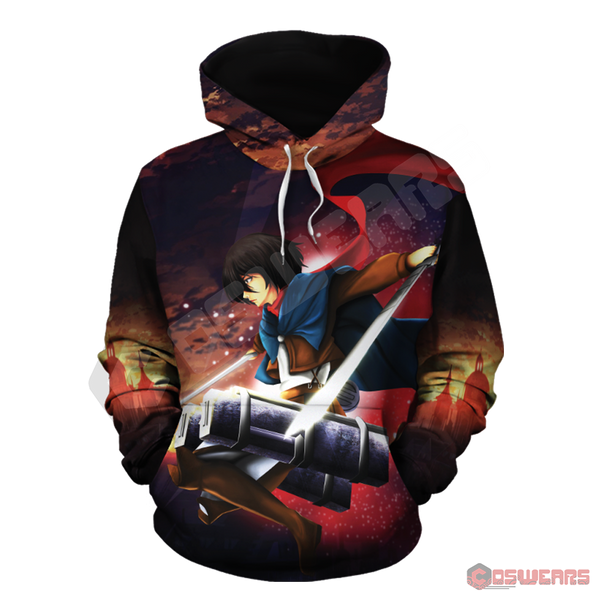 Attack on Titan - Mikasa Ackerman Inspired Pullover Hoodie
