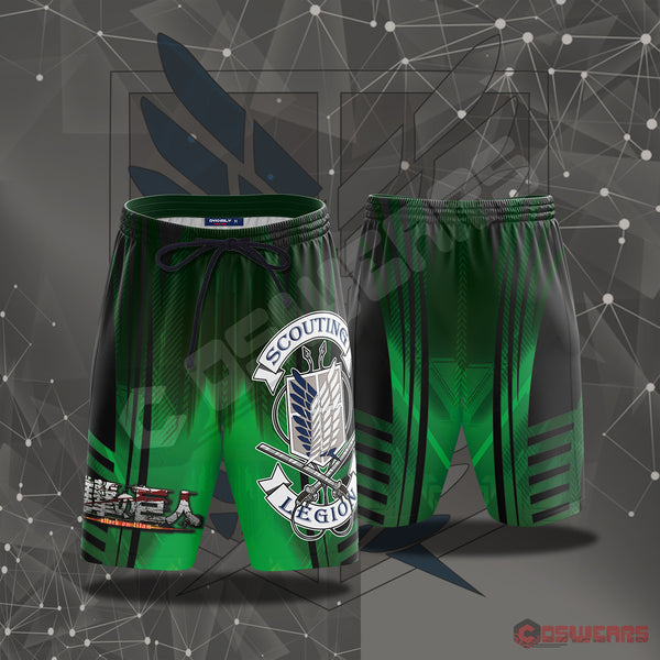 Attack On Titan : Survey Corps Beach Shorts