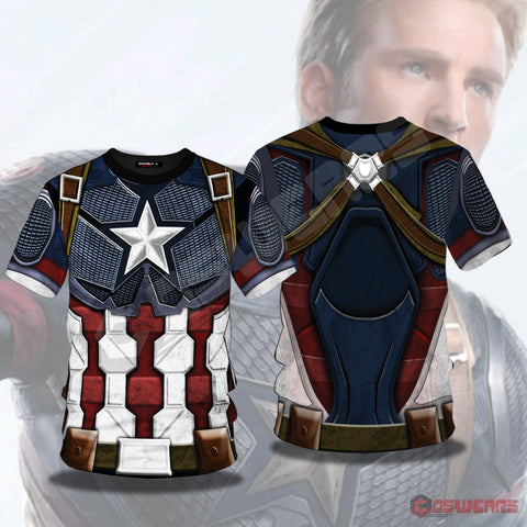Avengers: End Game Captain America Inspired T-Shirt