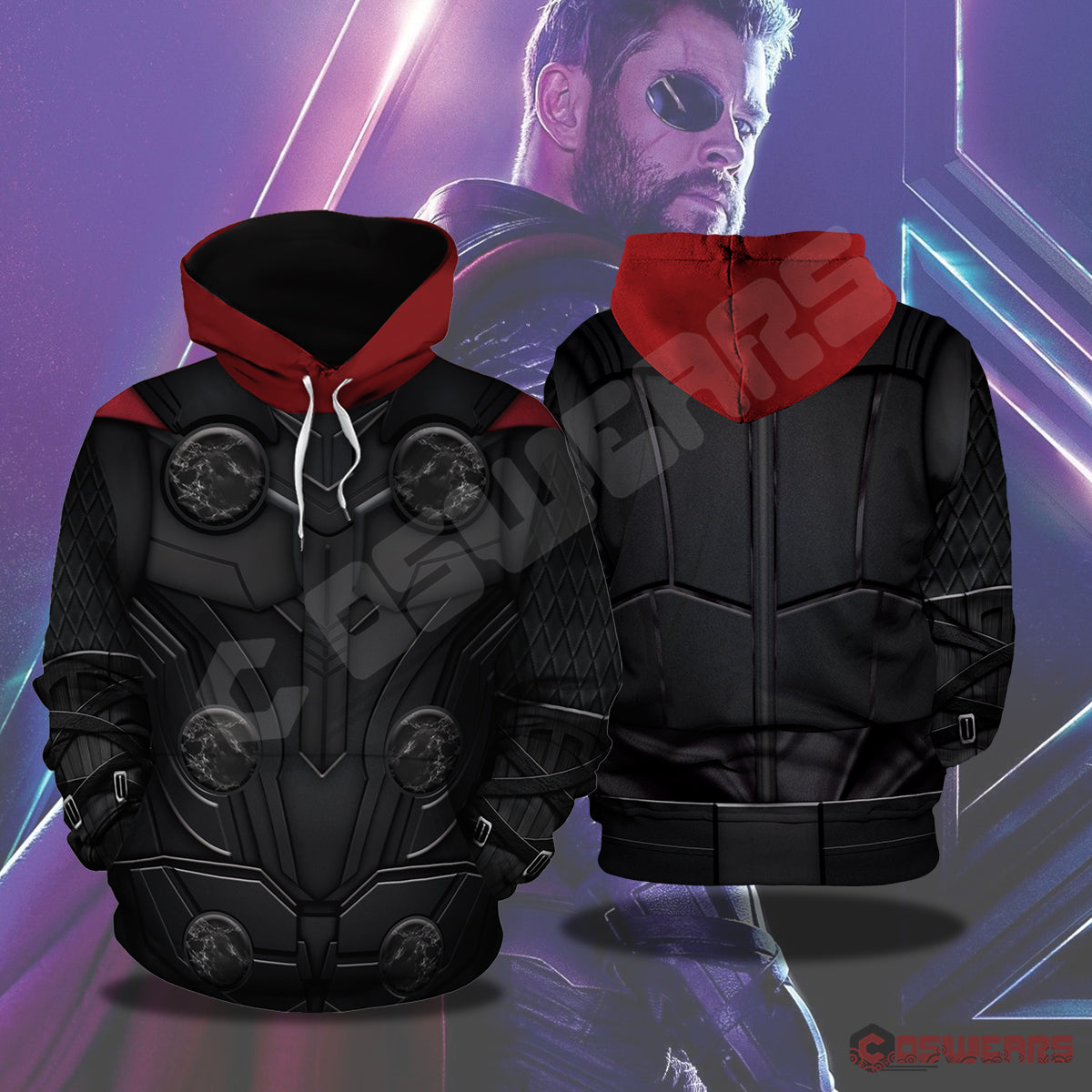 Avengers: End Game Thor Inspired Pullover Hoodie